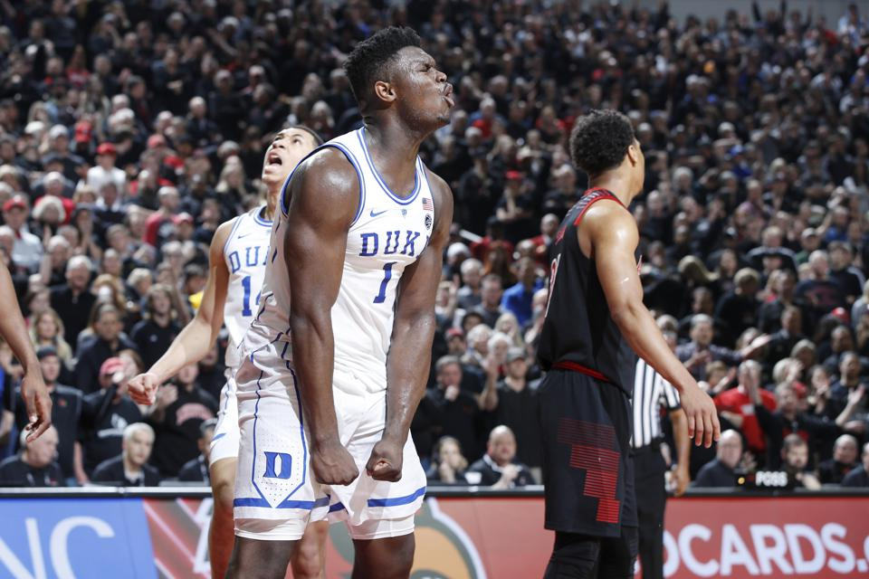 Zion Williamson On Track To Be Second Freshman To Win Naismith Award And Become No. 1 Draft Pick