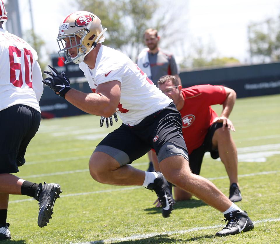 49ers Rookie Nick Bosa Has Strained Hamstring, Could Be Out Until Training Camp