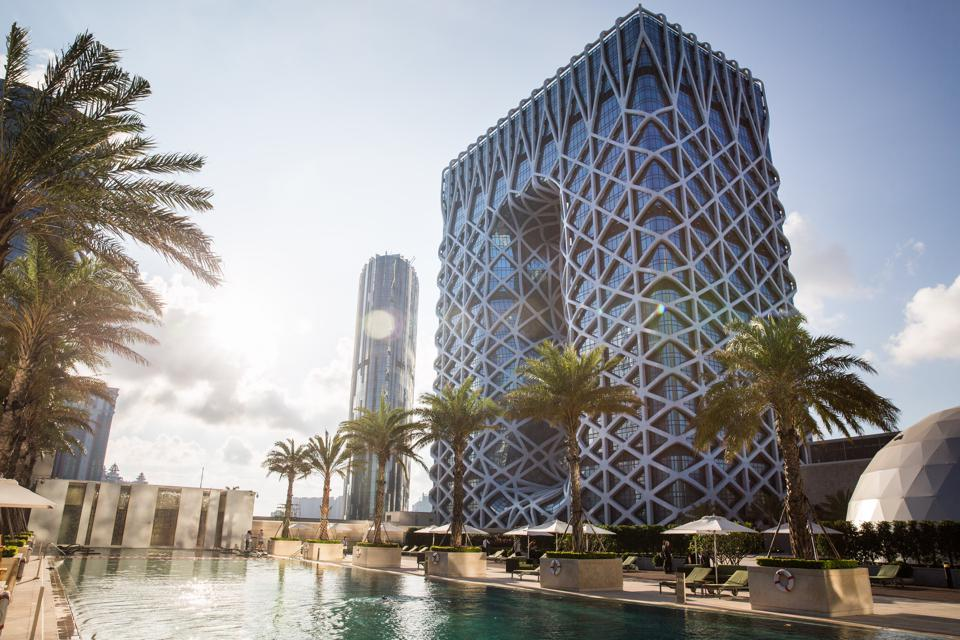 The Morpheus hotel, developed by Melco Resorts & Entertainment Ltd., stands during a media tour in Macau, China, on Tuesday, May 15, 2018. Melco is seeking government approval for more gaming tables in its new $1 billion hotel in Macau as the casino operator sees demand surging faster than expected in the world's biggest gambling hub. Photographer: Billy H.C. Kwok/Bloomberg