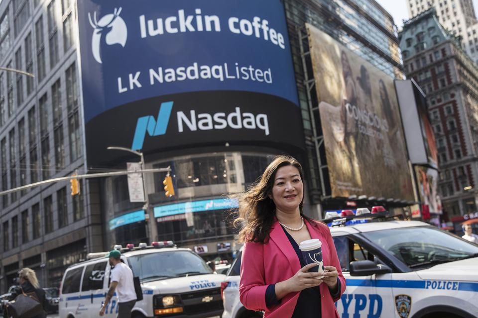 Starbucks Faces Off With China's New Nasdaq-listed, Techie Upstart Luckin Coffee