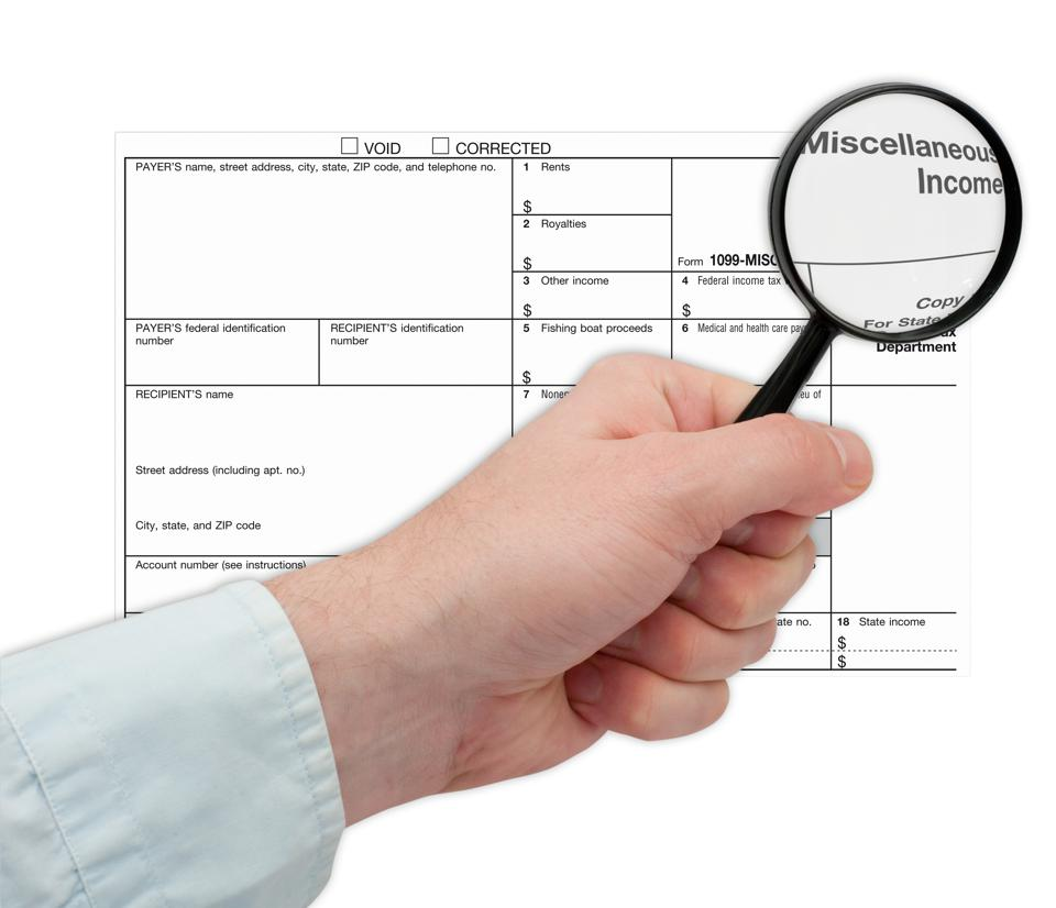 Missing An IRS Form 1099? Don't Ask For It, Here's Why
