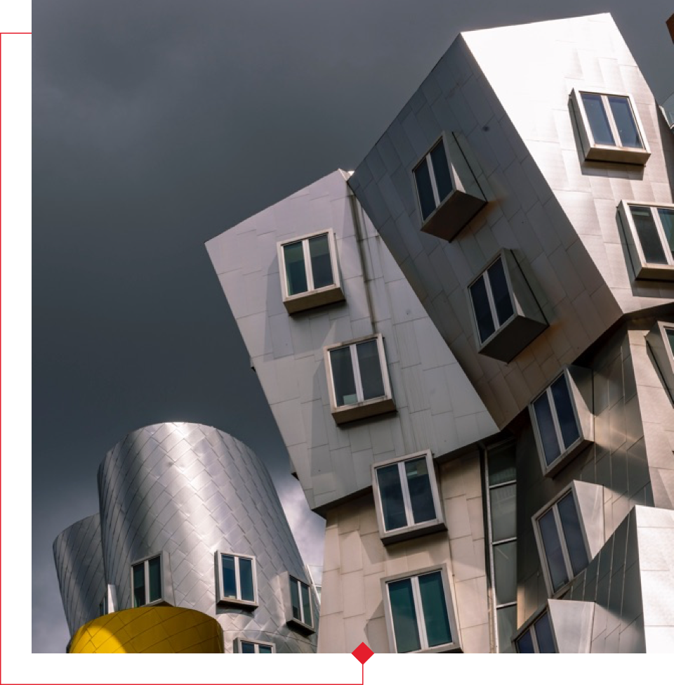 The Ray and Maria Stata Center, designed by architect Frank Gehry.