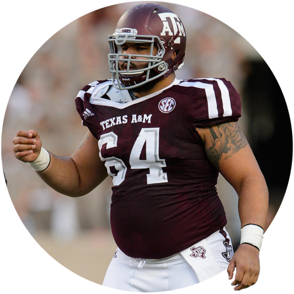 Texas A&M's Erik McCoy.