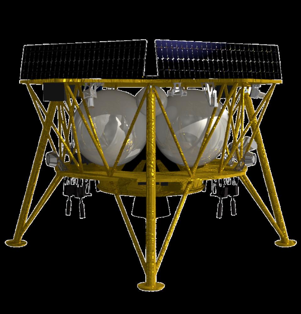 A rendering of Firefly Aerospace's Genesis Lander.