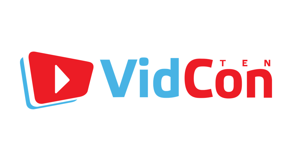 Logo from U.S. tenth-anniversary edition of VidCon