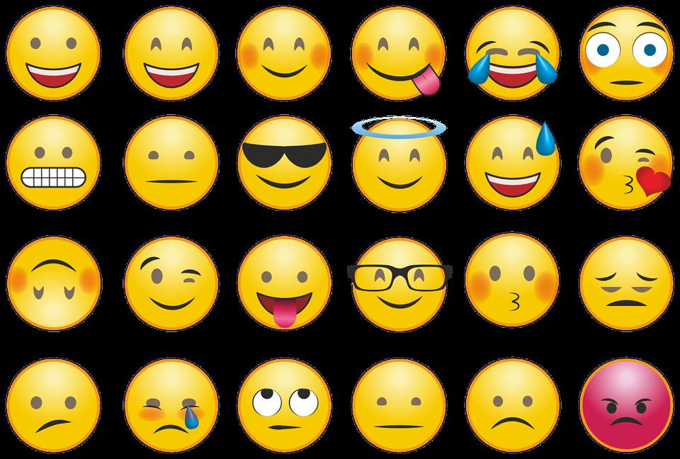 Multiple emoji icons.
