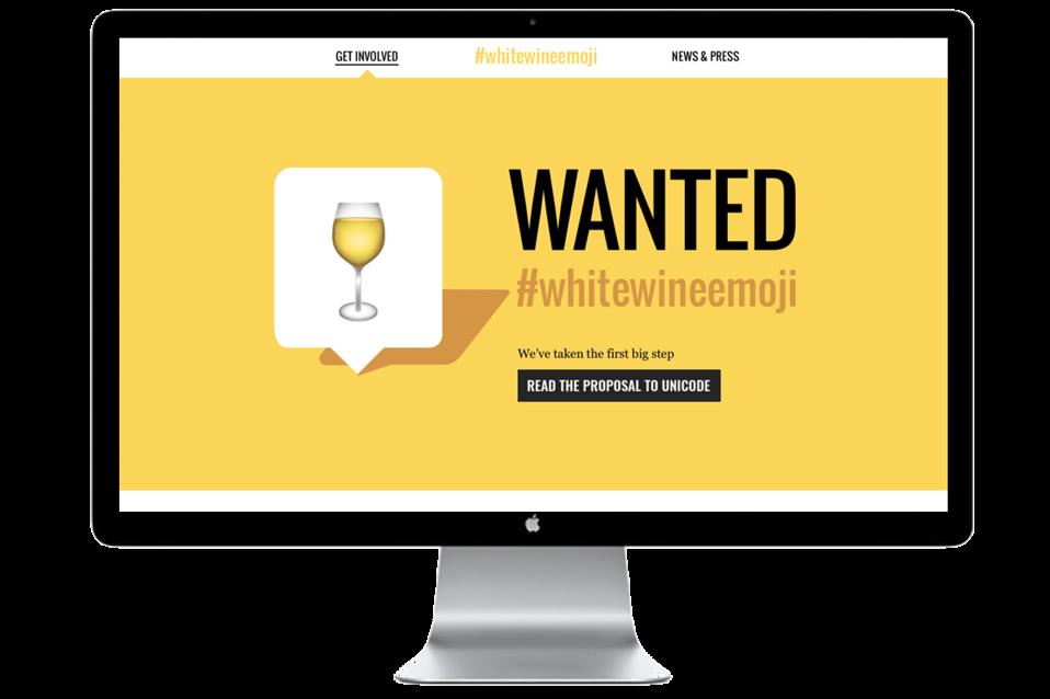 white wine emoji, social media and wine