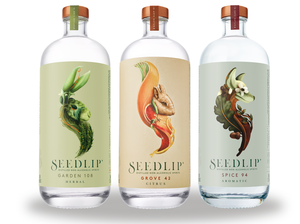Seedlip variants Garden 108, Grove 42 and Spice 94