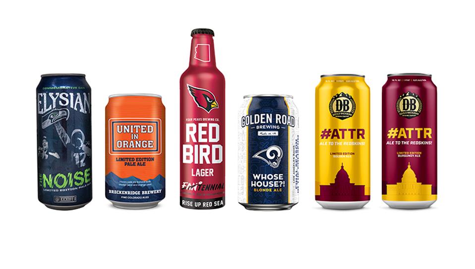 NFL craft beers