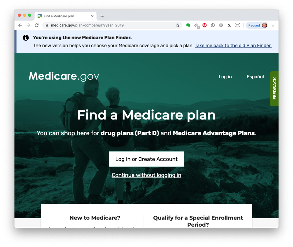 New Medicare.go Plan Finder