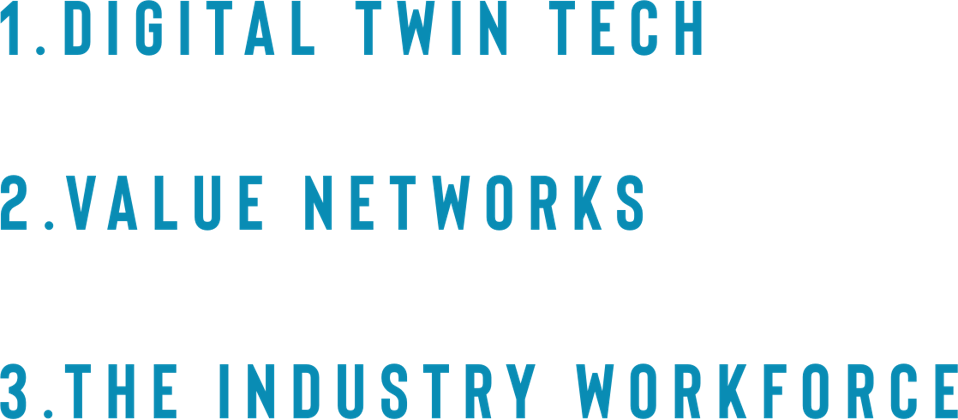1. Digital Twin Tech . 2. Value Networks . 3. The Industry Workforce
