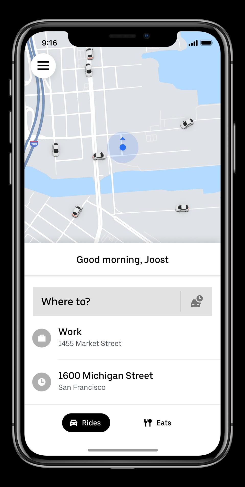 Uber New app