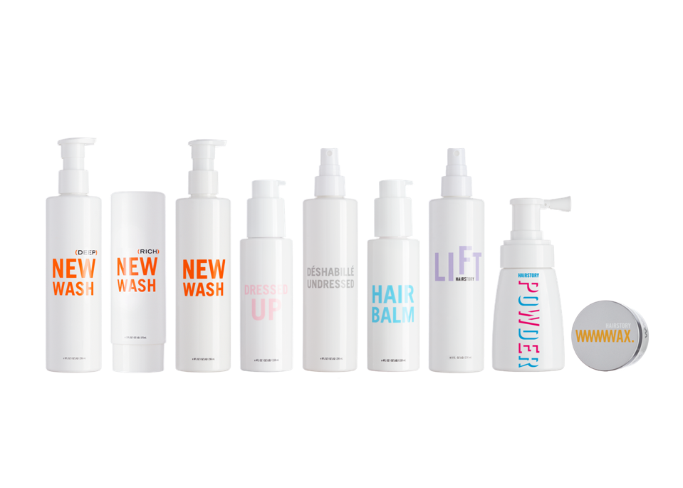 Full range of Hairstory products
