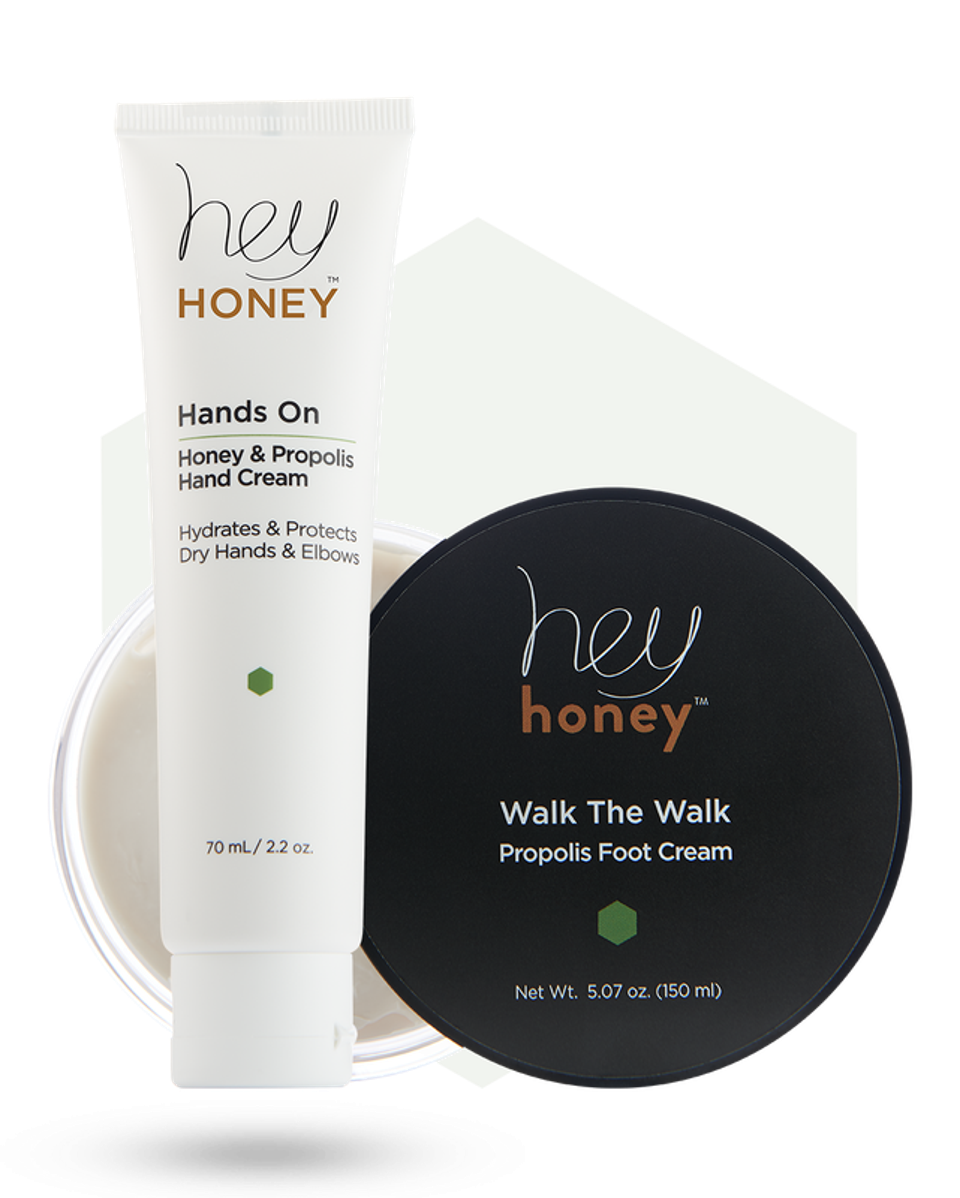Honey and Propolis Hand and Foot Care Duet from Hey Honey