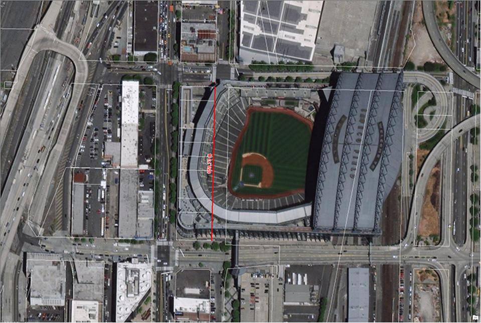 T-Mobile Park measurements.