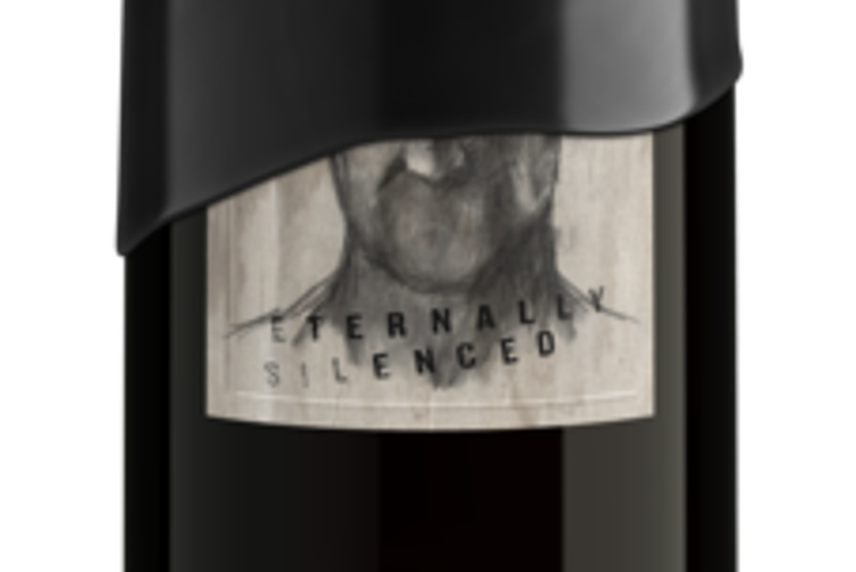 Eternally Silenced pinot noir has a bone-chilling image and wax seal.