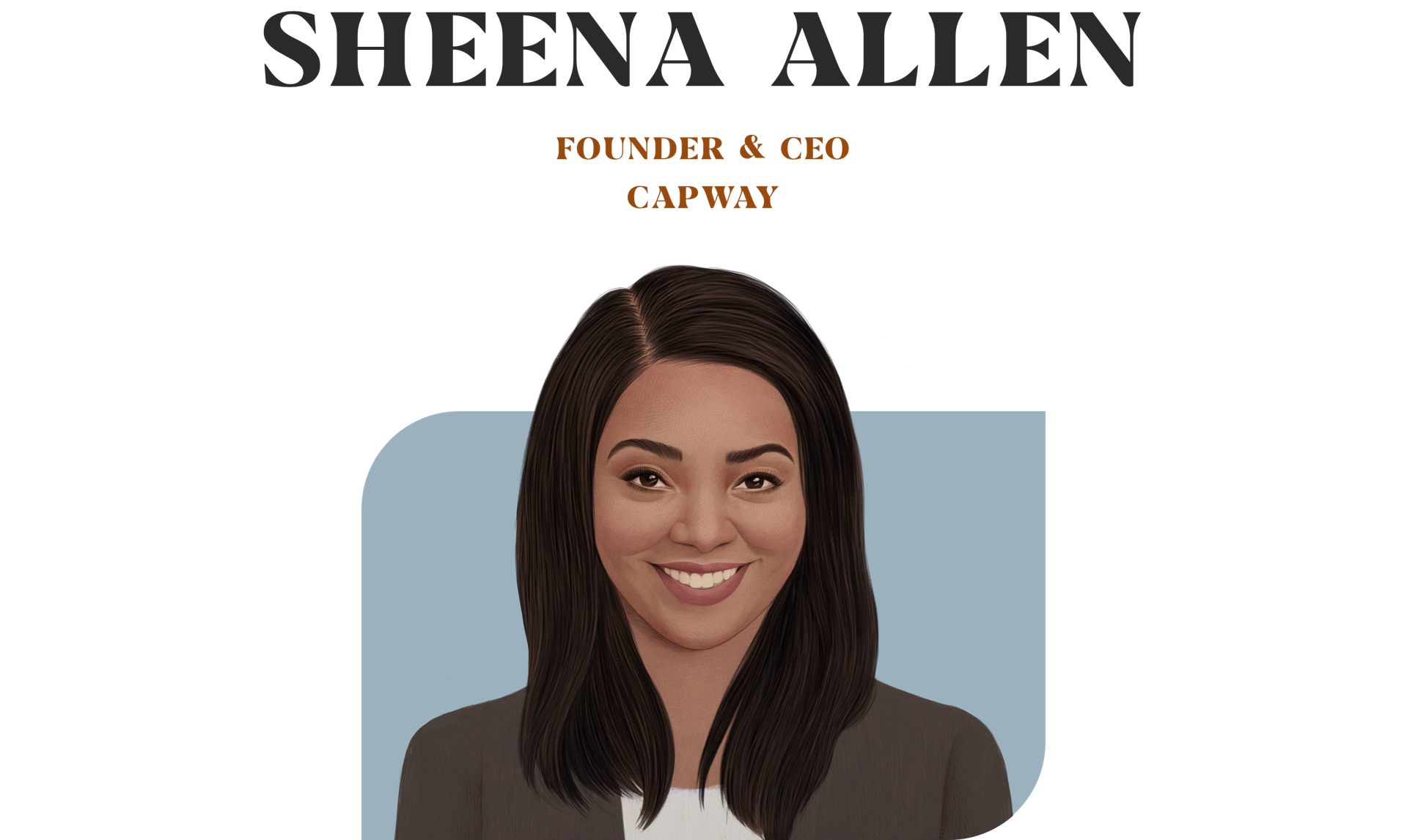 Sheena allen founder & ceo capway