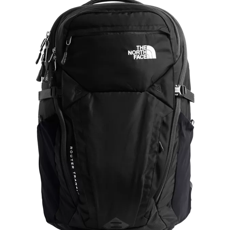 North Face backpack include two external vertical zippered pockets.