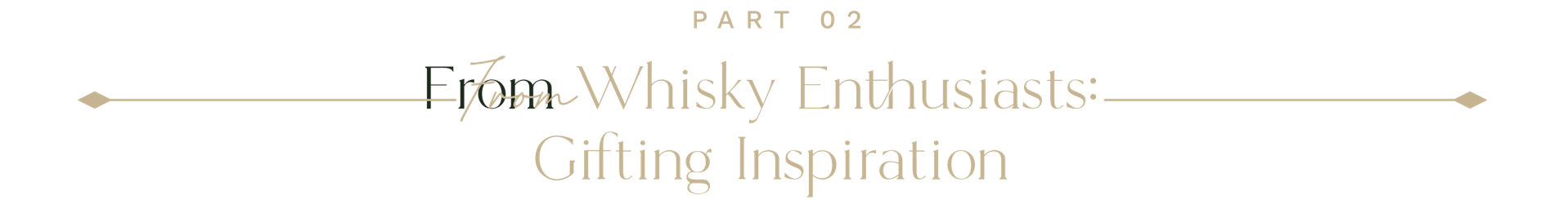 Part 02:  From Whisky Enthusiasts: Gifting Inspiration