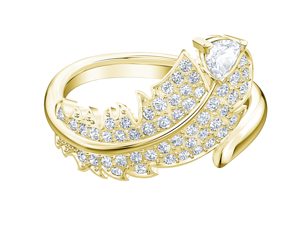 Icy crystal feather ring from Swarovski's ″Nice″ Collection.