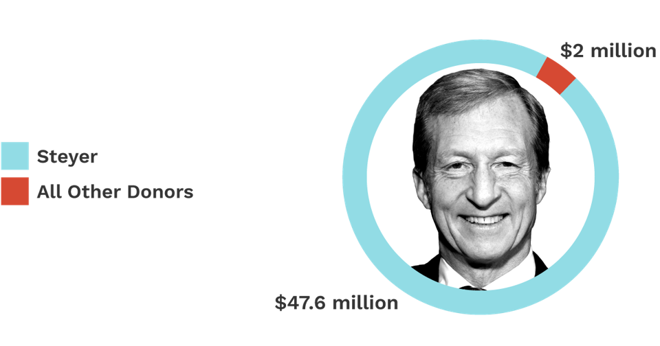Steyer Donors: Pie Chart