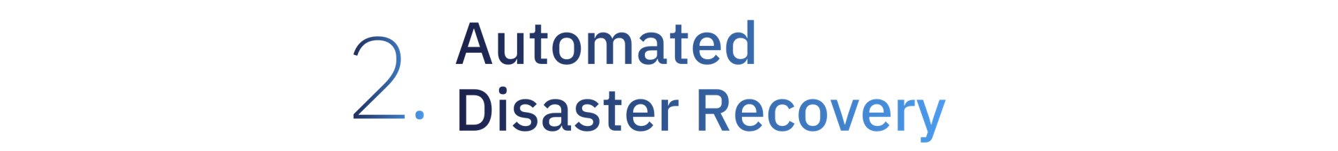 2. Automated Disaster Recovery