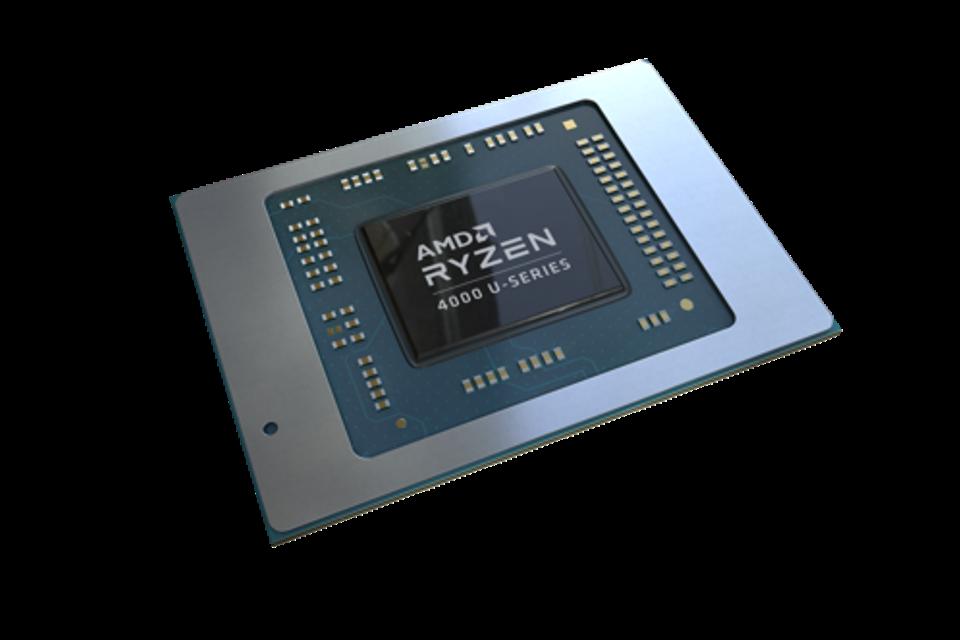 AMD Ryzen 4000 Series chip shot