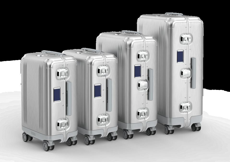 The new Zero Halliburton aluminum luggage collection.