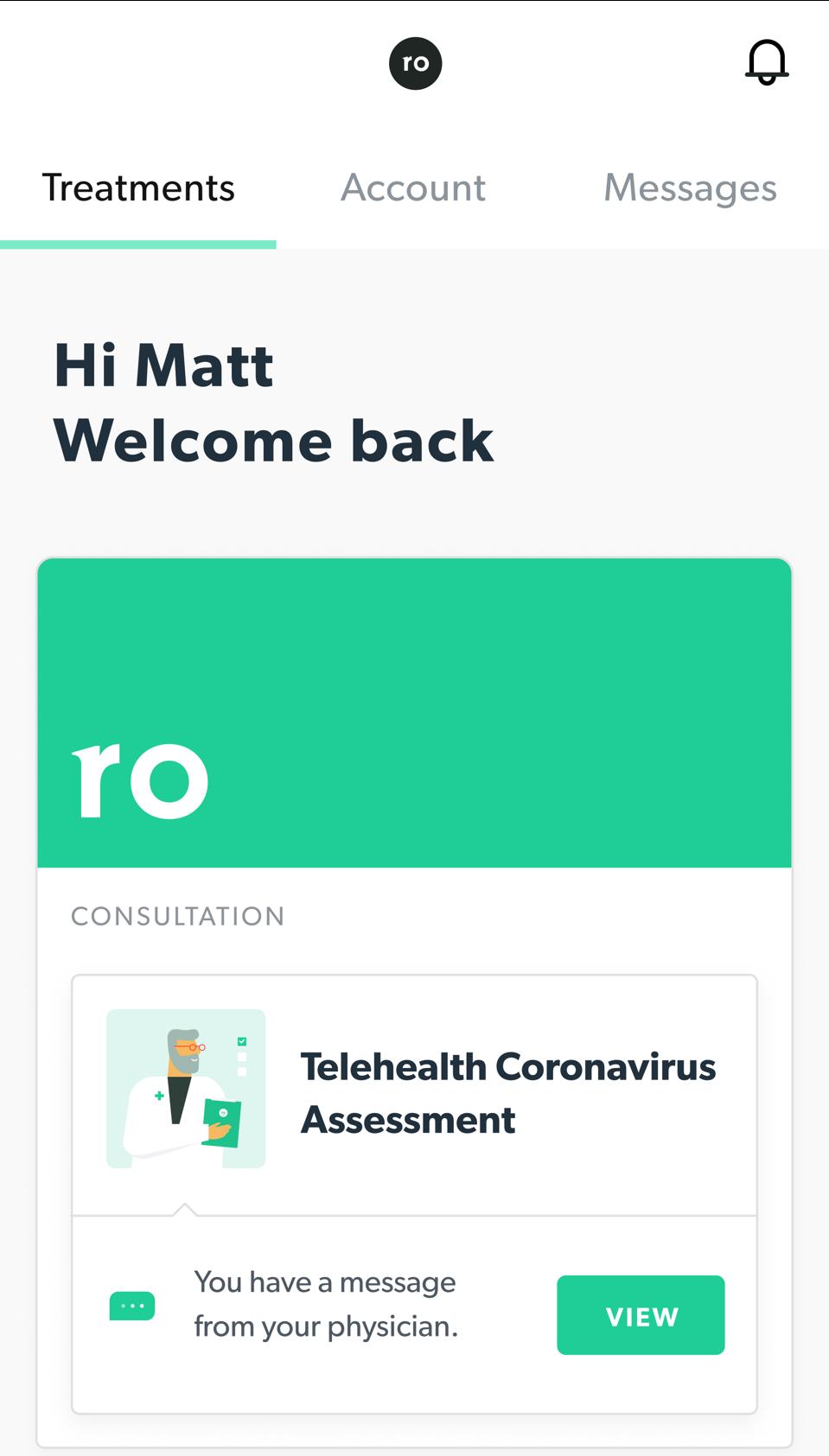 Mobile image of the Telehealth Coronavirus Assessment