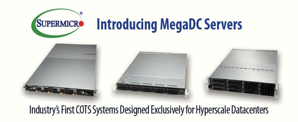Supermicro MegaDC Servers
