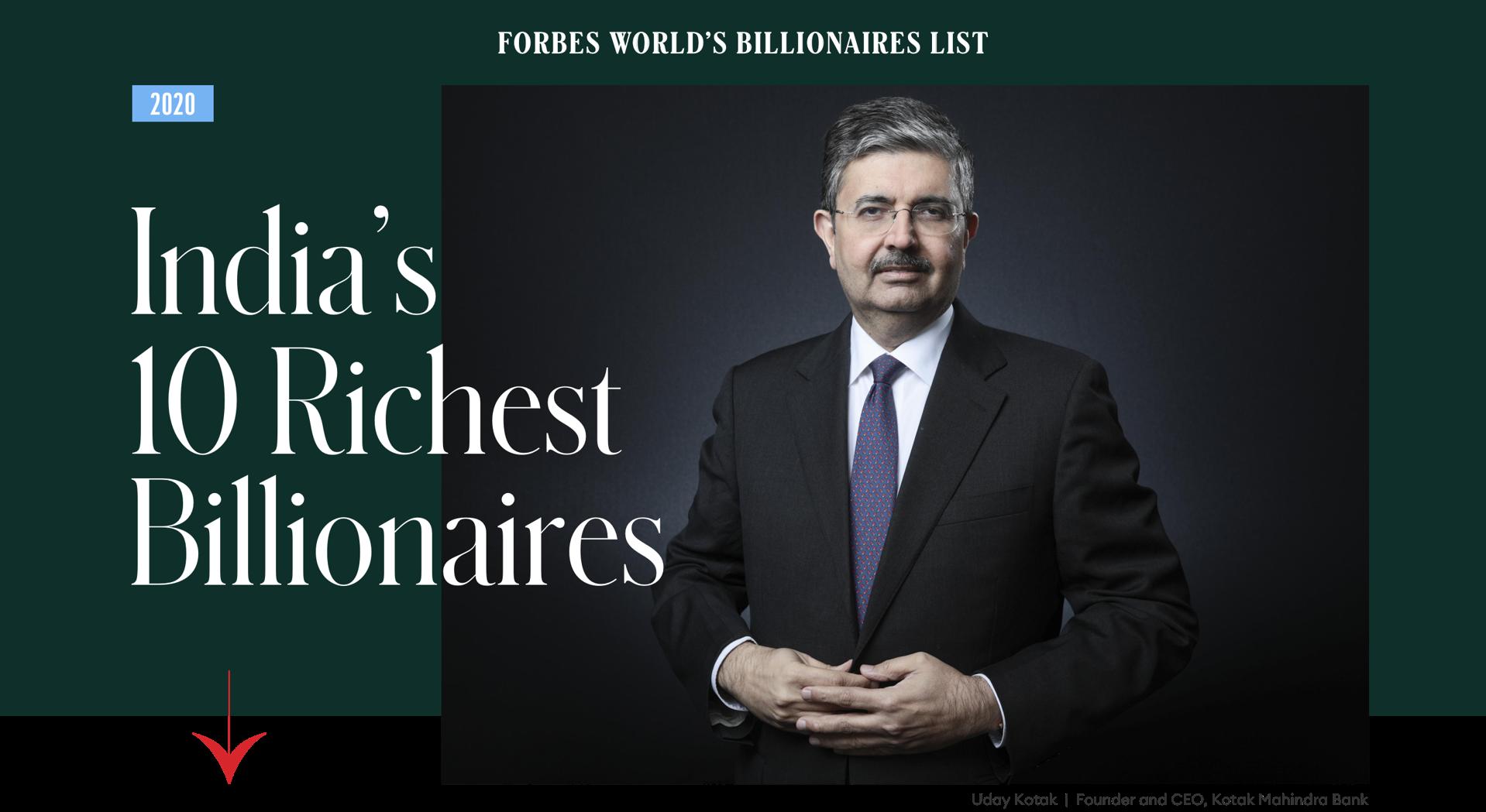 India S 10 Richest Billionaires In 2020