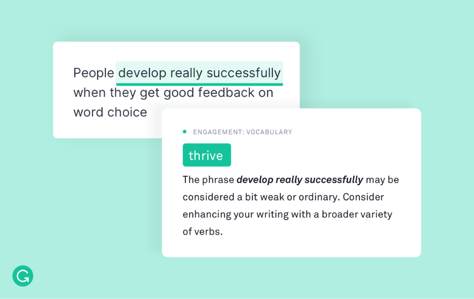 In addition to correcting spelling and punctuation, Grammarly makes editing recommendations.