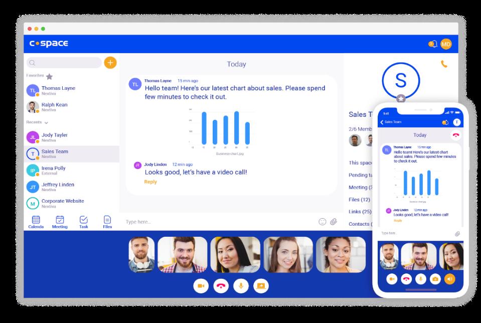 Nextiva's Cospace Collaboration App