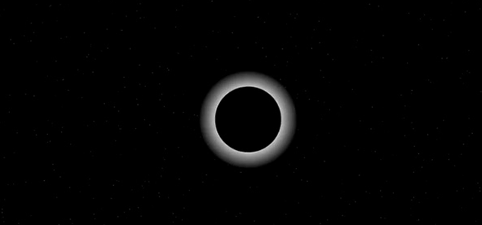Still image from an animation illustrating Pluto passing in front of a star during an eclipse-like event known as an occultation. SOFIA observed the dwarf planet as it was momentarily backlit by a star on June 29, 2015 to analyze its atmosphere.