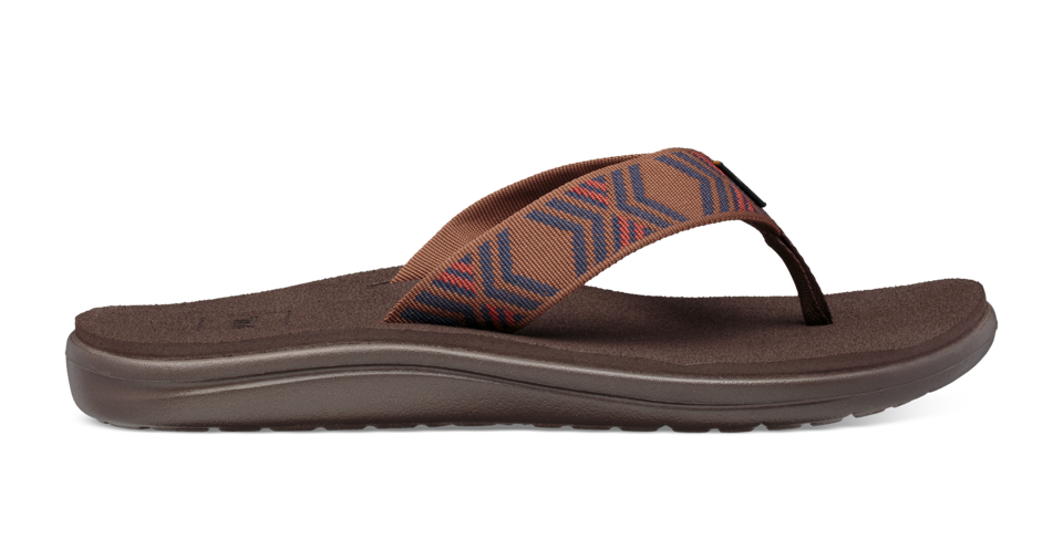 Built for all-day, comfortable wear, Teva's Voya Flip flip-flop combines the foot-forming comfort with an array of one-of-a-kind strap designs.