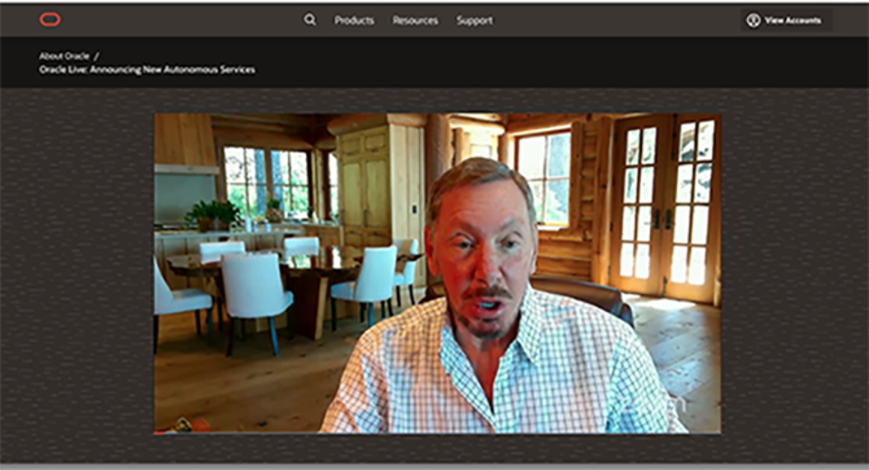 Oracle Chairman and CTO Larry Ellison announced new Cloud@Customer services during a Zoom event.