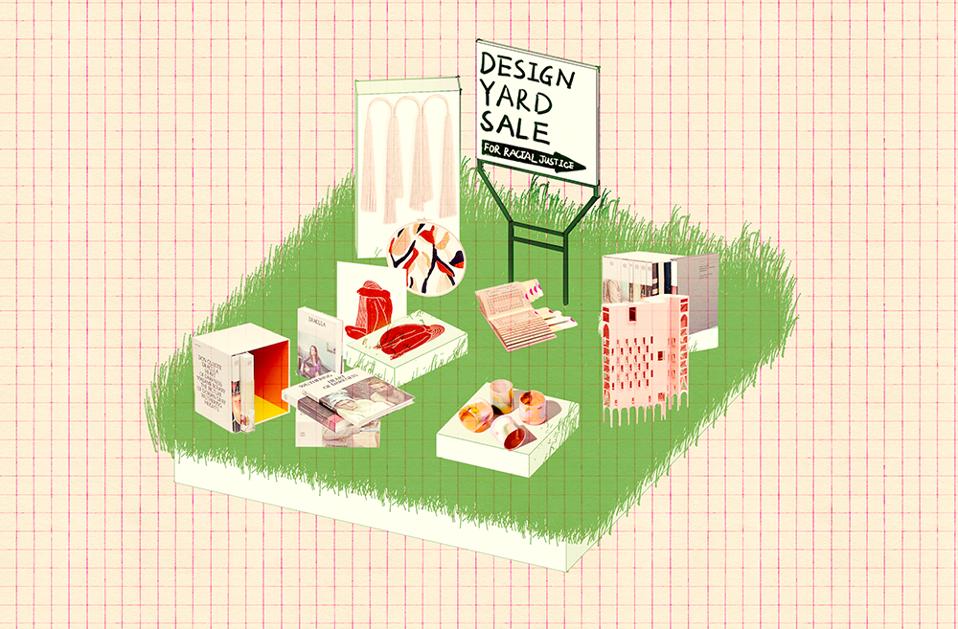sketch logo for design yard sale for racial justice