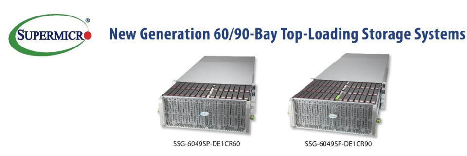 Supermicro top-loading storage for HDDs and SSDs
