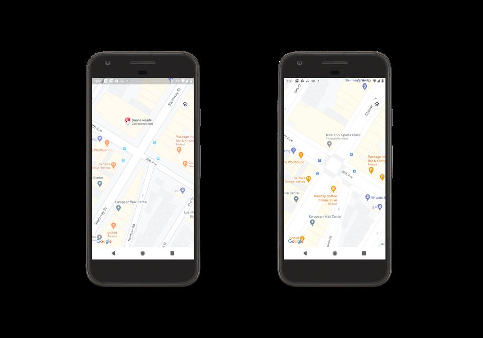 Google Maps sidewalks, crosswalks and pedestrian islands