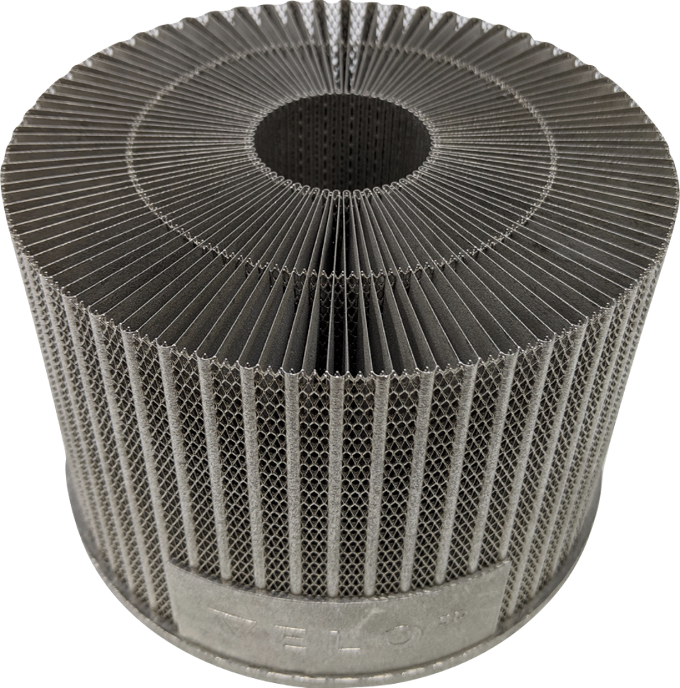3-D printed heat exchanger Metal AM can create shapes not attainable by any other technology.