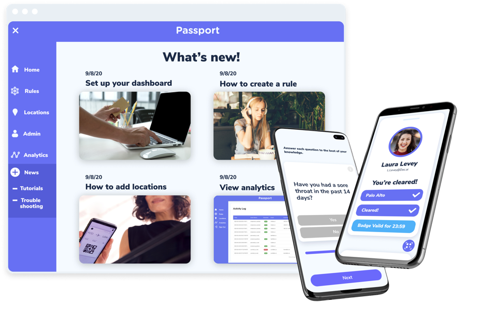 Screenshot of Doc.ai product called Passport.