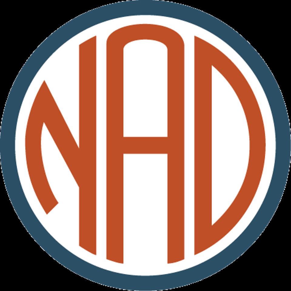NAD logo.