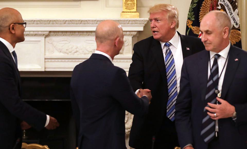 Image result for jeff bezos trump