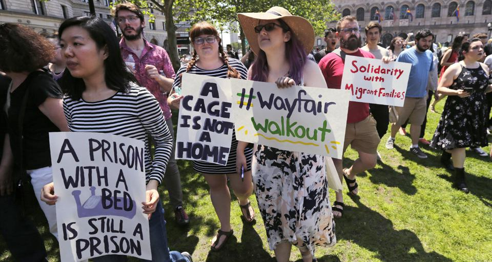 Wayfair Employees' Protest Of Sales To Detention Centers Could Backfire On Them