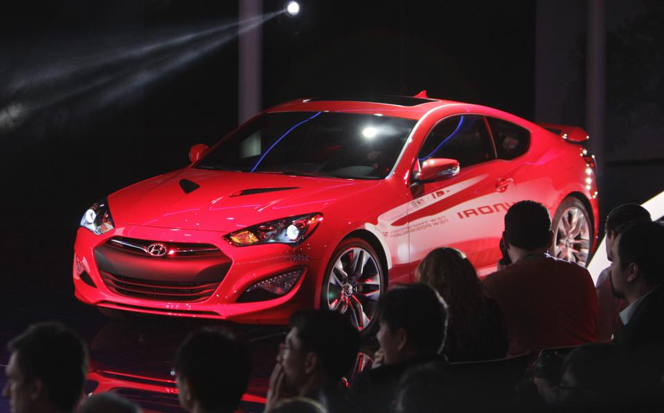 The Hyundai Genesis Coupe U2014 Legitimate Rear Wheel Drive Muscle, But More  Horsepower Than Sales. (AP Photo/Carlos Osorio, File)