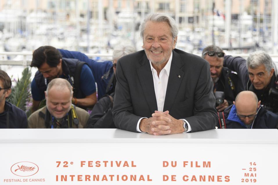 Alain Delon In Tears As He Accepts The Palme D'Honneur At Cannes Film Festival