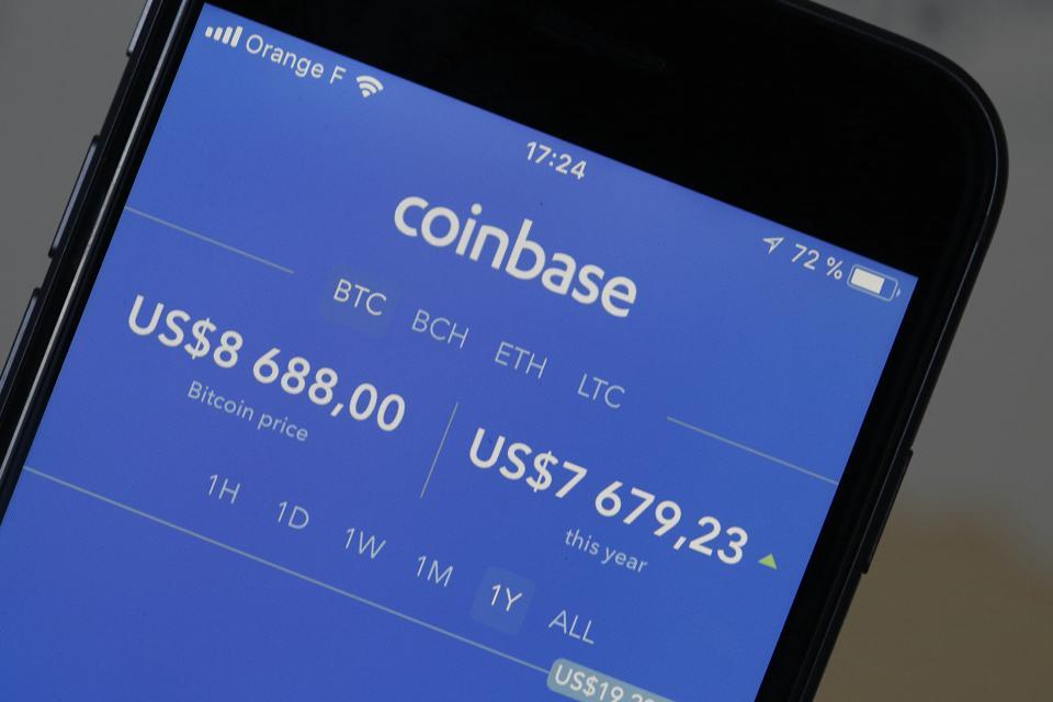 bitcoin price coinbase