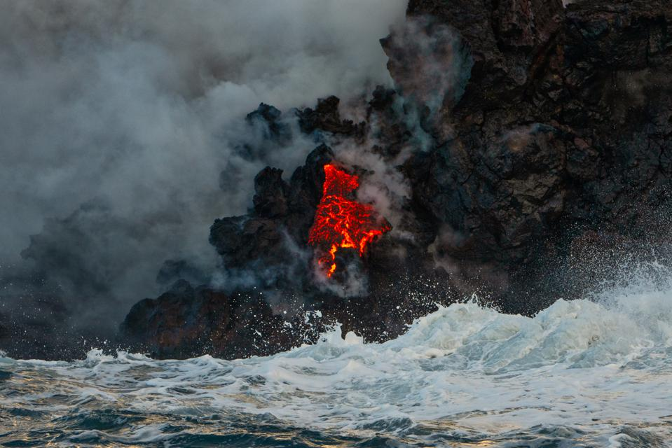 Hawaii Volcano: Lava Flow Completely Fills The Beautiful