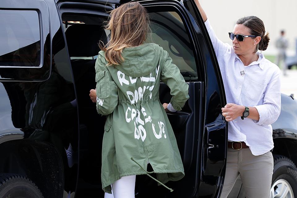 The Curious Case Of Melania Trump's Careless Coat