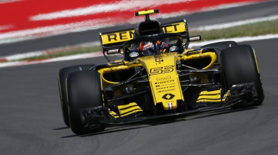 Renault driver Carlos Sainz of Spain drives at the Barcelona Catalunya racetrack in Montmelo, just outside Barcelona, Spain. AP Photo/Manu Fernandez